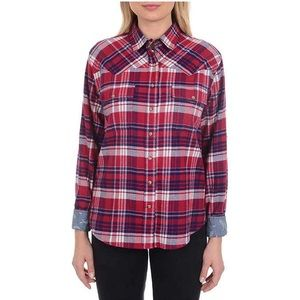 Jachs Girlfriend red variety flannel plaid shirt